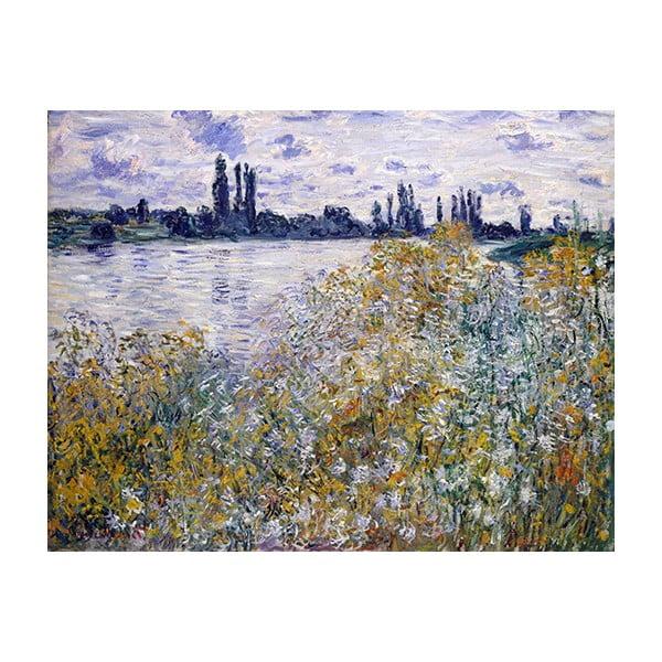 Obraz Claude Monet - Île aux Fleurs near Vétheuil, 90x70 cm