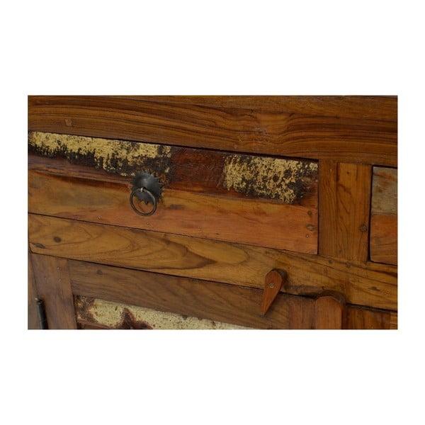 Dřevěná komoda India, 90 cm
