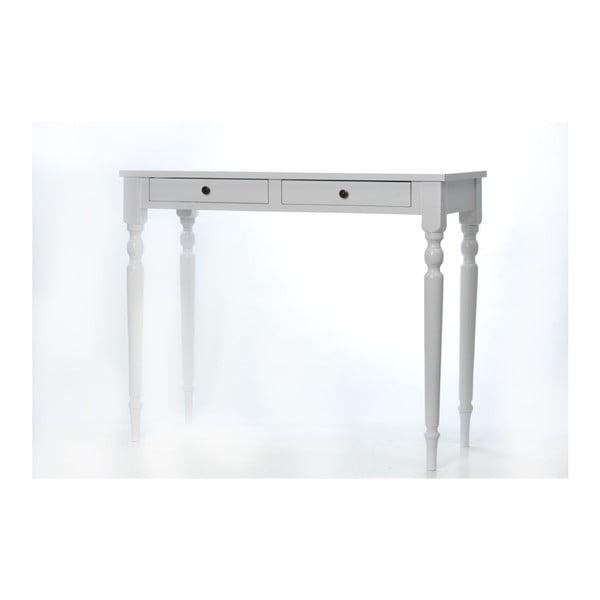 Toaletní stolek Milton White, 100x42x82 cm
