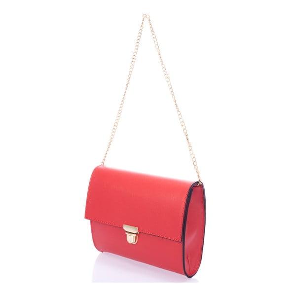 Kožená kabelka Anys, červená