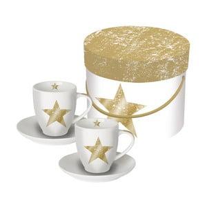 Set 2 cești pentru espresso PPD Star Fashion, 100ml