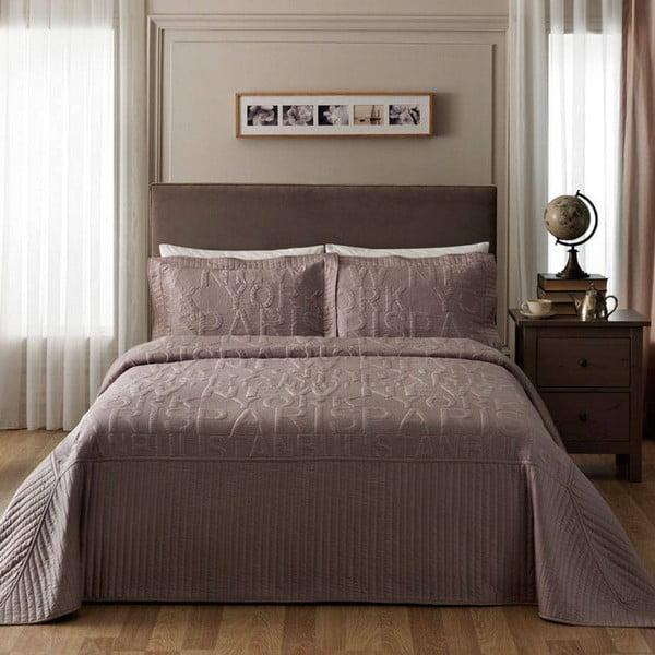 Sada přehozu přes postel a povlaku na polštář TAC Cityline Beige, 180x240 cm
