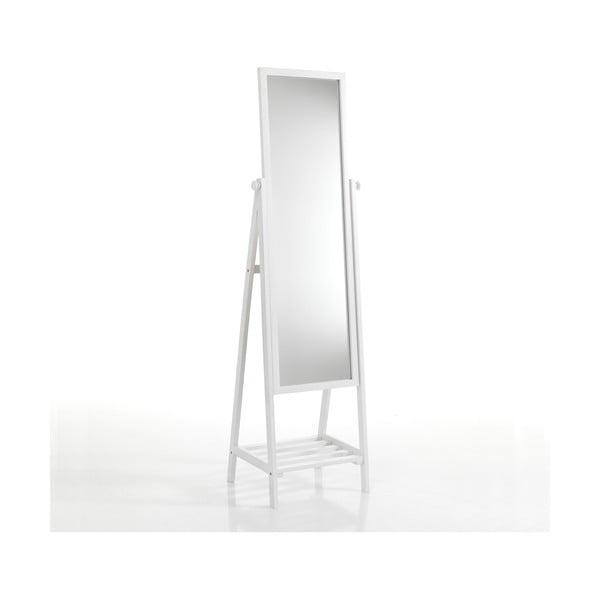 Biele stojacie zrkadlo s policou Tomasucci Brill