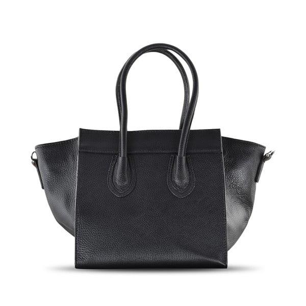 Kožená kabelka Rose, černá