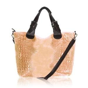 Kožená kabelka Dolce Melanie Rosa Cipria