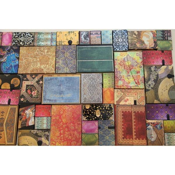 Diář na rok 2014 - French Ornate Violet 13x18 cm, horizontální výpis dnů