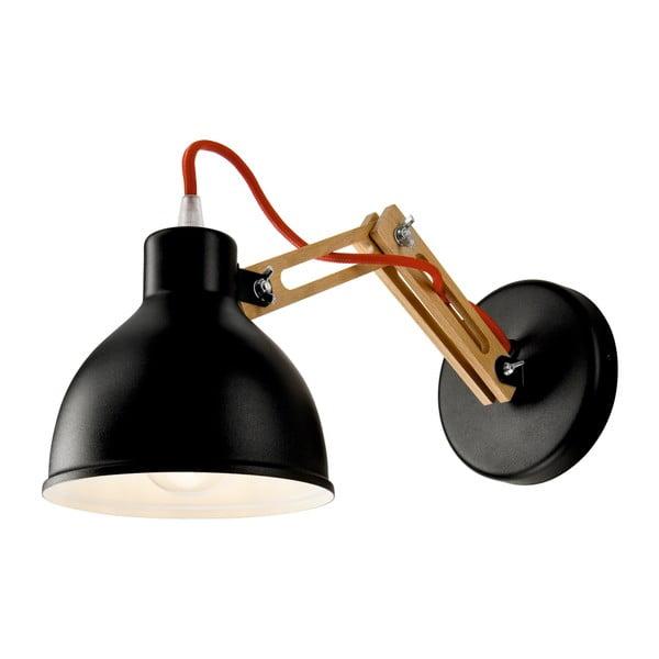 Černá nástěnná lampa Lamkur Marcello