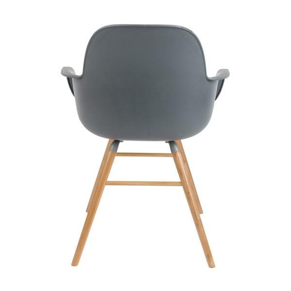Set 2 scaune cu cotiere Zuiver Albert Kuip, gri