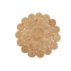 Koberec z juty Linen Couture Rug Neptuno, ⌀ 100 cm