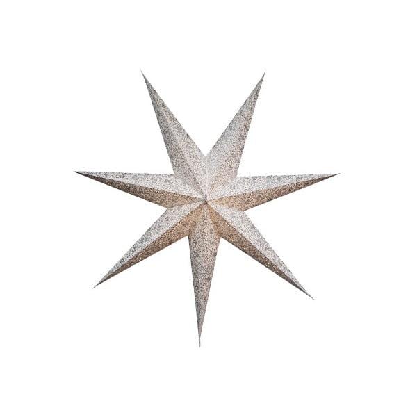 Závěsná svítící hvězda Best Season Five Snow Silver, 150 cm