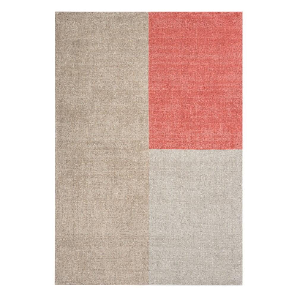 Béžovo-růžový koberec Asiatic Carpets Blox, 160 x 230 cm