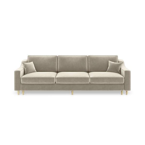 Beżowa 3-osobowa sofa rozkładana Mazzini Sofas Marigold