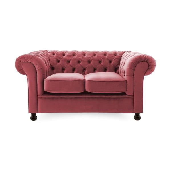Canapea 2 locuri Vivonita Chesterfield, roșu