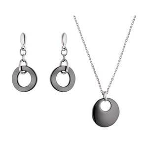 Sada náhrdelníku a náušnic Chain Pure Black