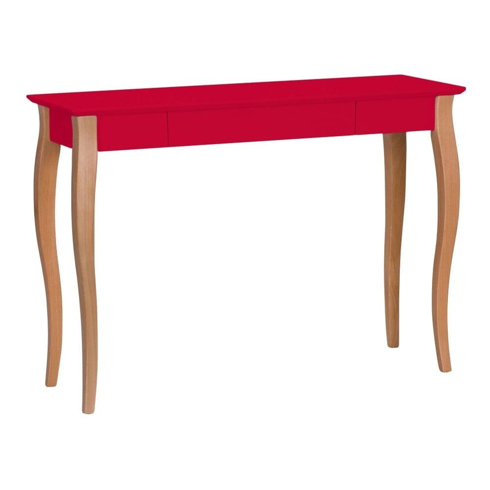 Červený psací stůl Ragaba Lillo, šířka 105 cm
