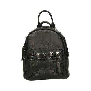 Černý kožený batoh Roberto Buono Monica