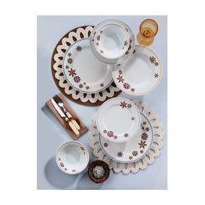 Porcelánový talířový set Yasemin Brown, 24 ks