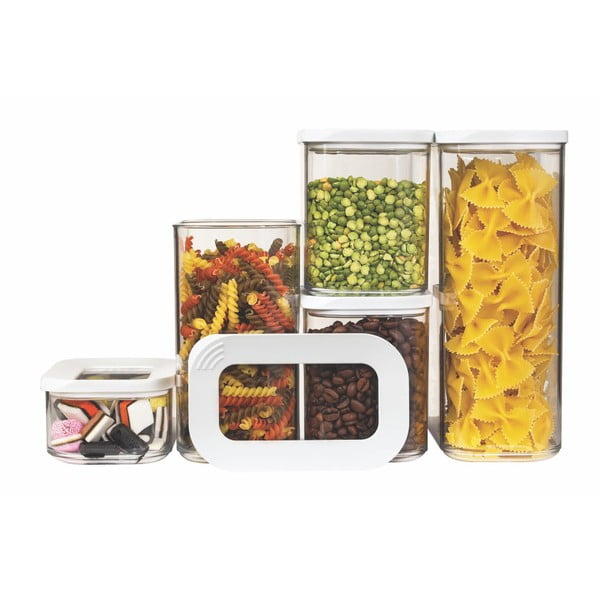 Set 5 cutii pentru depozitare alimente Rosti Mepal Modula Starter