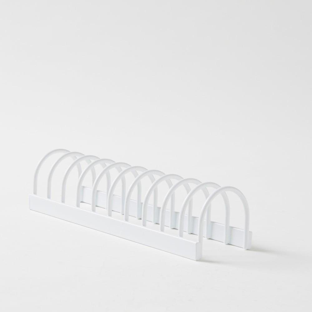 Bílý kovový stojan nábobí Compactor