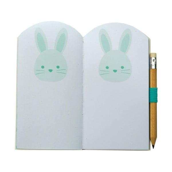 Mini zápisník Busy B Bunny s tužkou