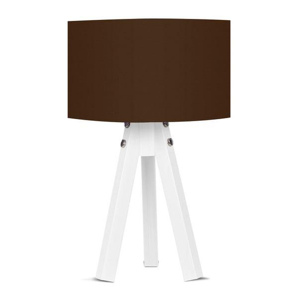 Stolní lampa s hnědým stínítkem Kate Louise Bianca