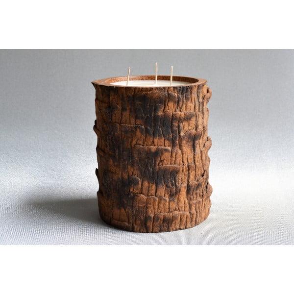 Palmová svíčka Legno s vůní vanilky a pačuli, 120 hodin hoření
