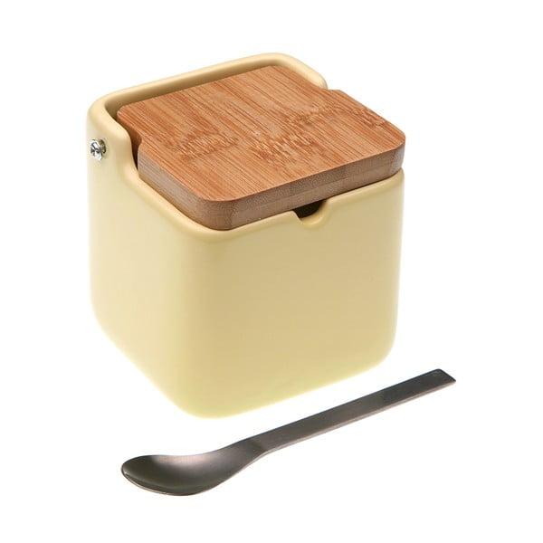 Beżowa cukiernica z łyżeczką Versa Spoon