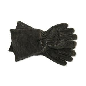 Černé semišové rukavice Garden Trading Gaunlet Black, délka 38,5 cm
