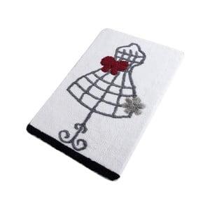 Koupelnová předložka Confetti Bathmats Dress White, 60 x 100 cm