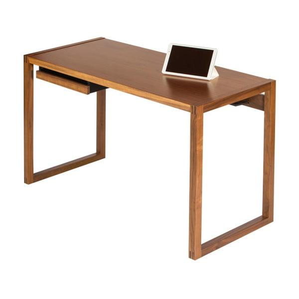 Pracovní stůl z ořechového dřeva Wermo Renfrew, 126x55cm