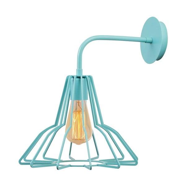 Bledě modrá nástěnná lampa Flower Drap