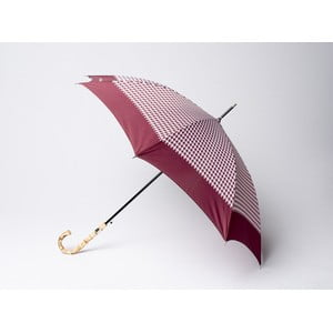 Deštník Houndstooth, vínový