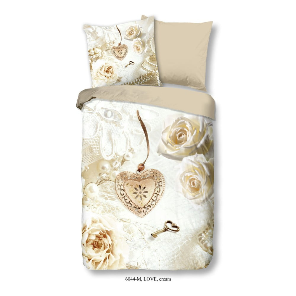 Povlečení na jednolůžko z mikroperkálu Muller Textiels Romance, 135 x 200 cm