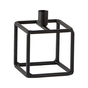 Černý svícen KJ Collection Lines, 7x9cm