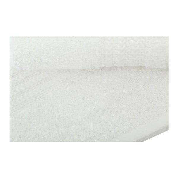 Set 3 bílých ručníků z bavlny a osušky Rainbow