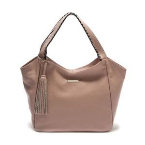 Pudrově růžová kožená kabelka Isabella Rhea Imelda