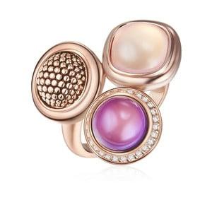 Prsten v barvě růžového zlata s krystaly Swarovski Saint Francis Crystals Sweet Berry, vel.60