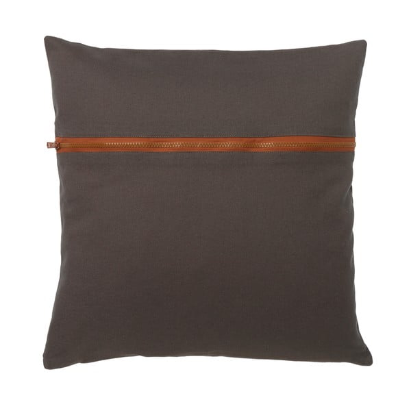 Polštář Zipper charcoal, 45x45 cm