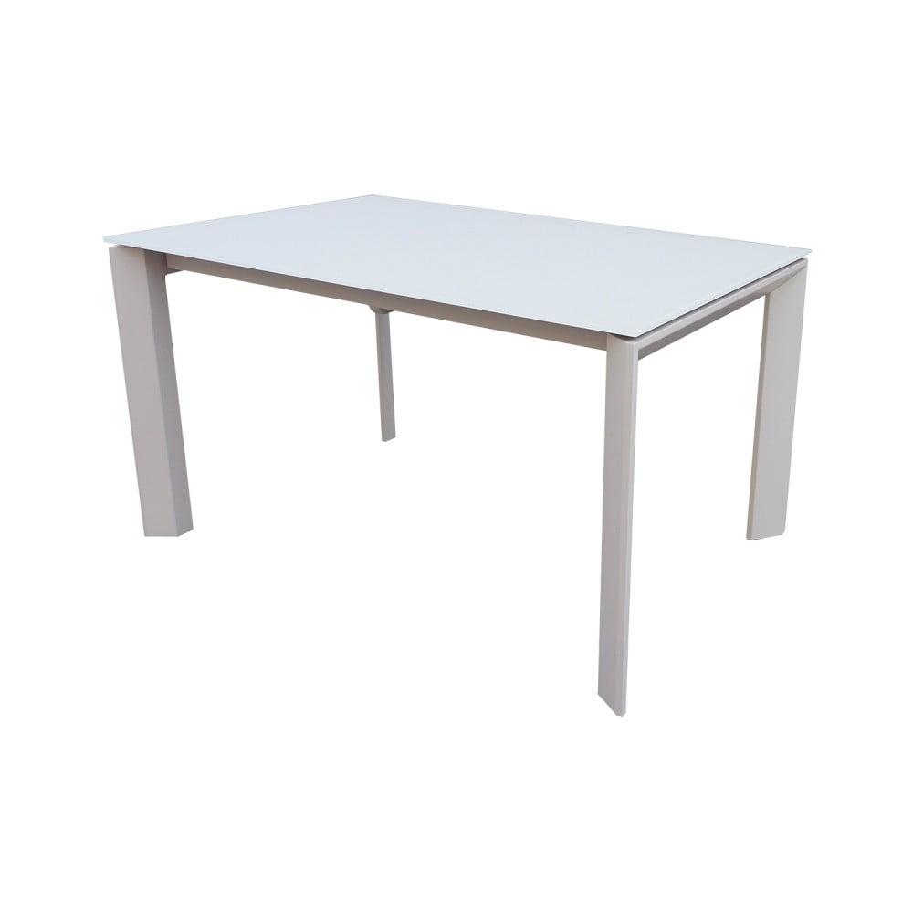 Šedý rozkládací jídelní stůl sømcasa Nicola, 140x90cm