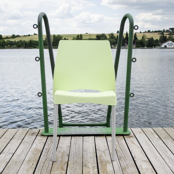 Židle Breeze Green, vhodná do interiéru i exteriéru