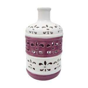Fialovobílá porcelánová váza Mauro Ferretti Alto