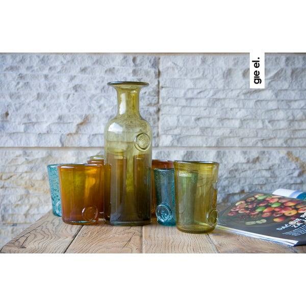 Skleněná karafa/váza Carage, olivová