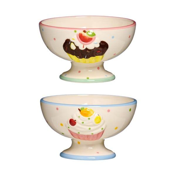 Sada 2 dezertních misek Premier Housewares Cupcake Dessert