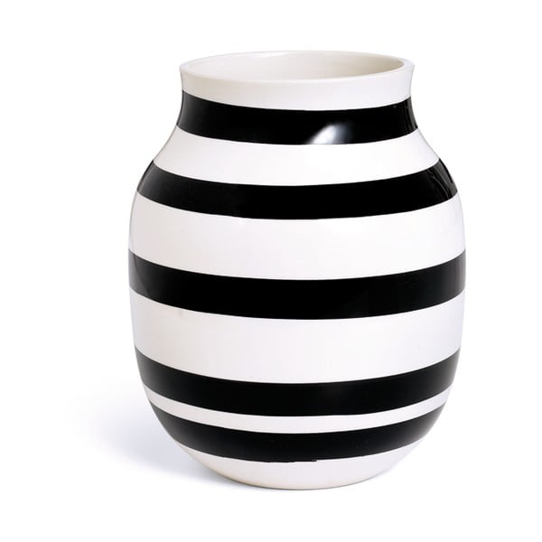 Omaggio fekete-fehér agyagkerámia váza, magasság 20 cm - Kähler Design