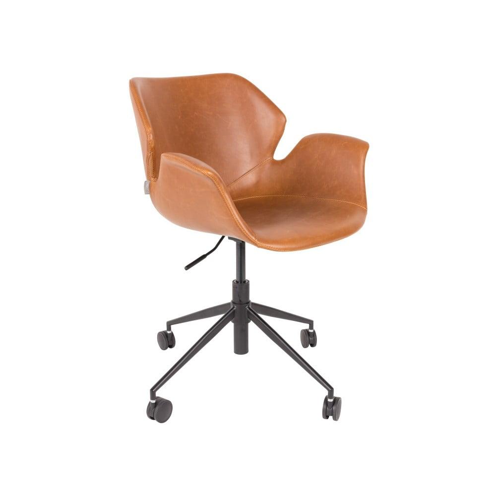 Hnědá kancelářská židle Zuiver Office Chair Nikki