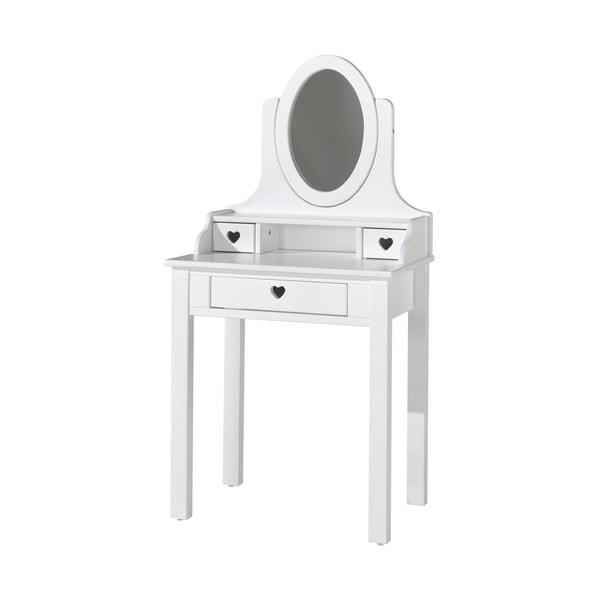Biała toaletka Vipack Amori, wys. 136 cm