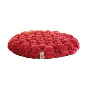 Pernă relaxare cu bile de masaj Lindy Vrňáková Bloom, Ø 75 cm, roșu