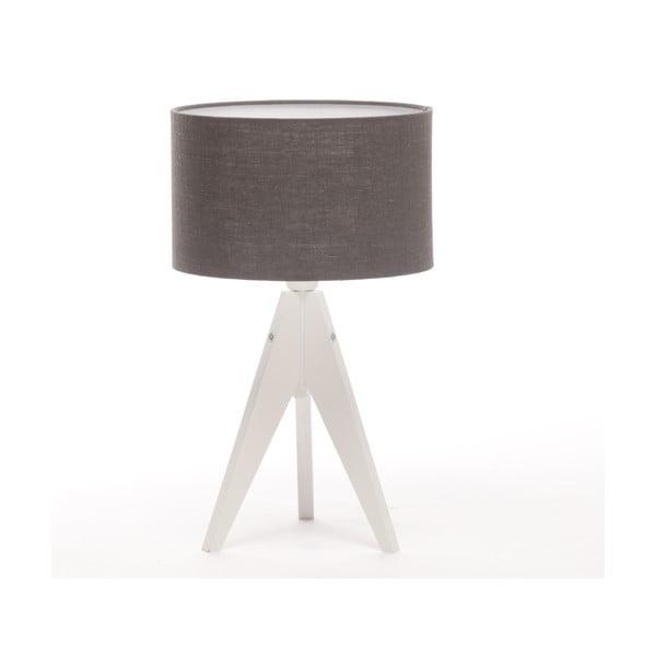 Stolní lampa Arist Cylinder Dark Grey/White