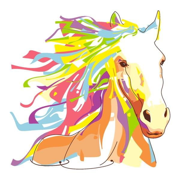 Autocolant Fanastick Pop Art Cheval, 60 x 60 cm