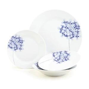Porcelánový set Hydrangea, 12 ks